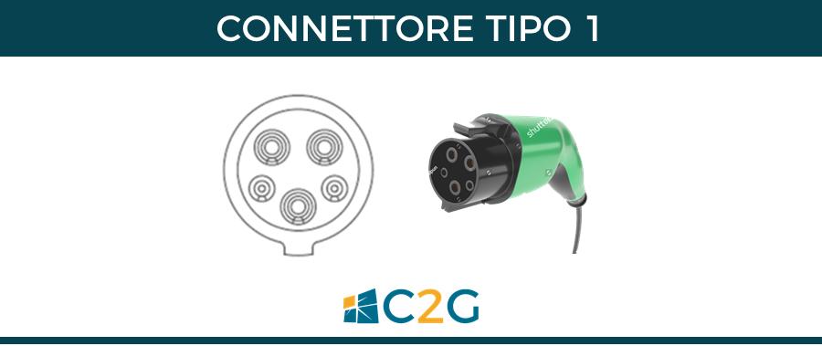Connettore tipo 1 - connettori ricarica auto elettriche