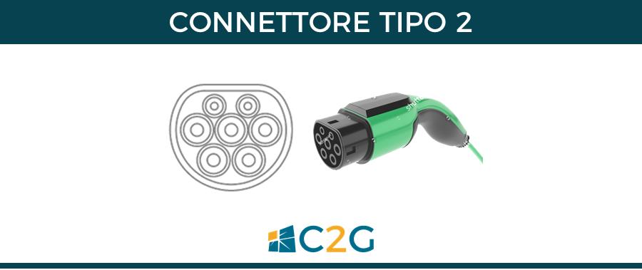 Connettore tipo 2 - connettori ricarica auto elettriche
