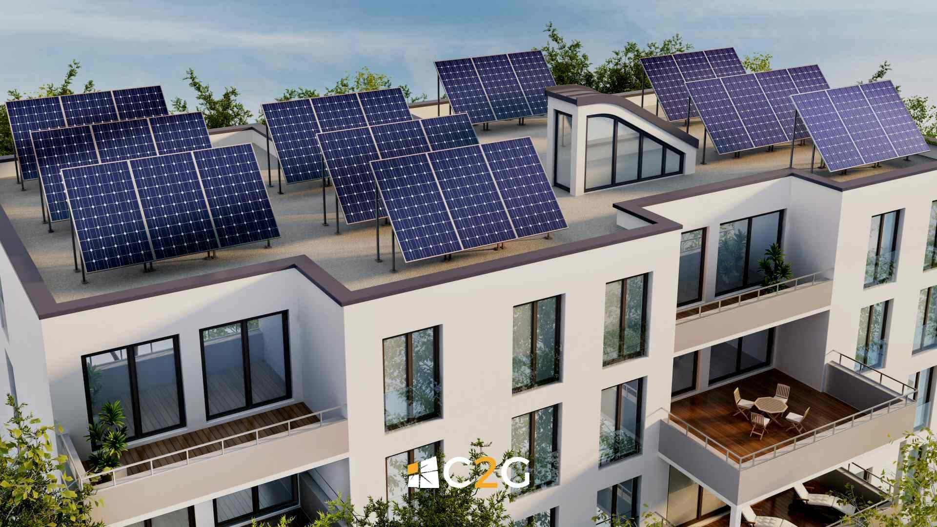 Impianto fotovoltaico hotel - C2G Solar