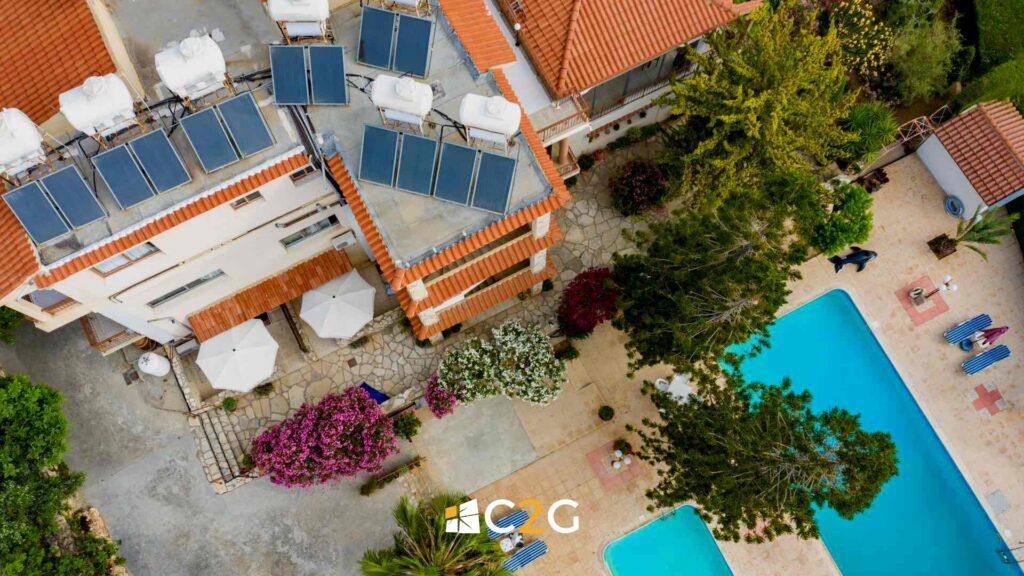 Impianto fotovoltaico hotel alberghi BeB negozi, centri- C2G Solar