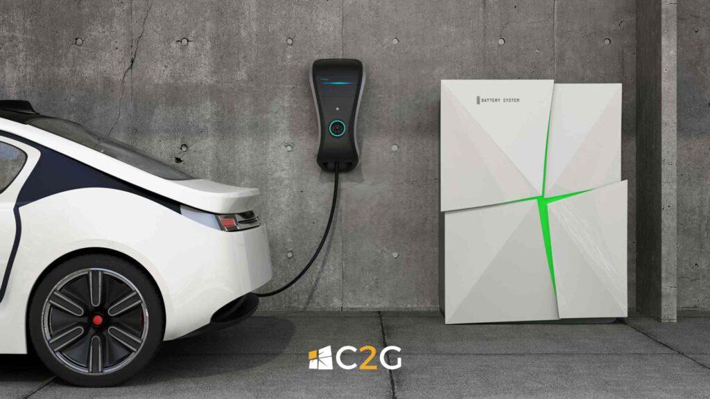 Ricarica auto elettrica con batterie - C2G Solar