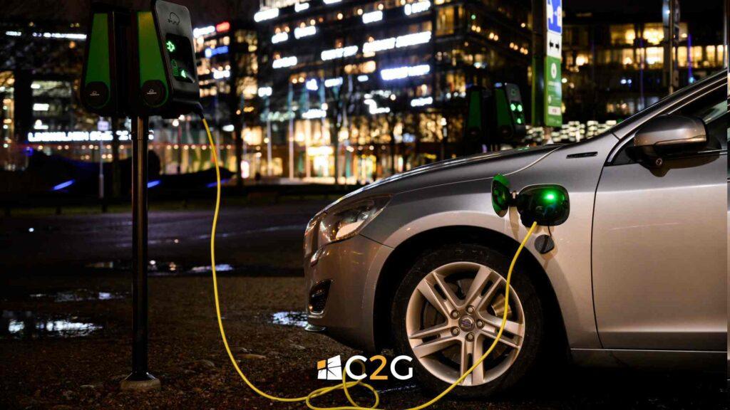 Ricarica auto elettrica per centri commerciali, palestre, negozi - C2G Solar