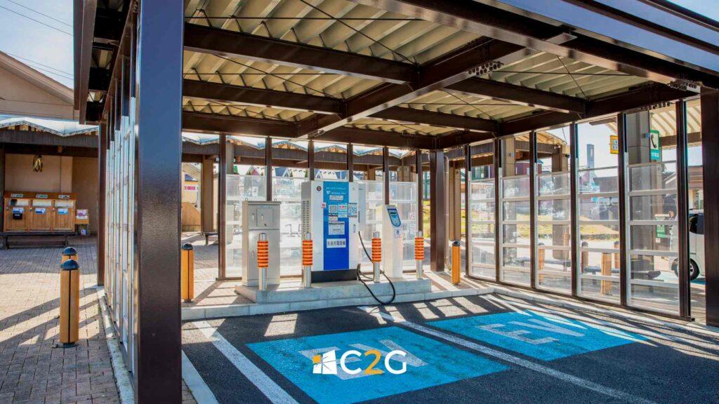 Stazione ricarica auto elettriche - C2G Solar
