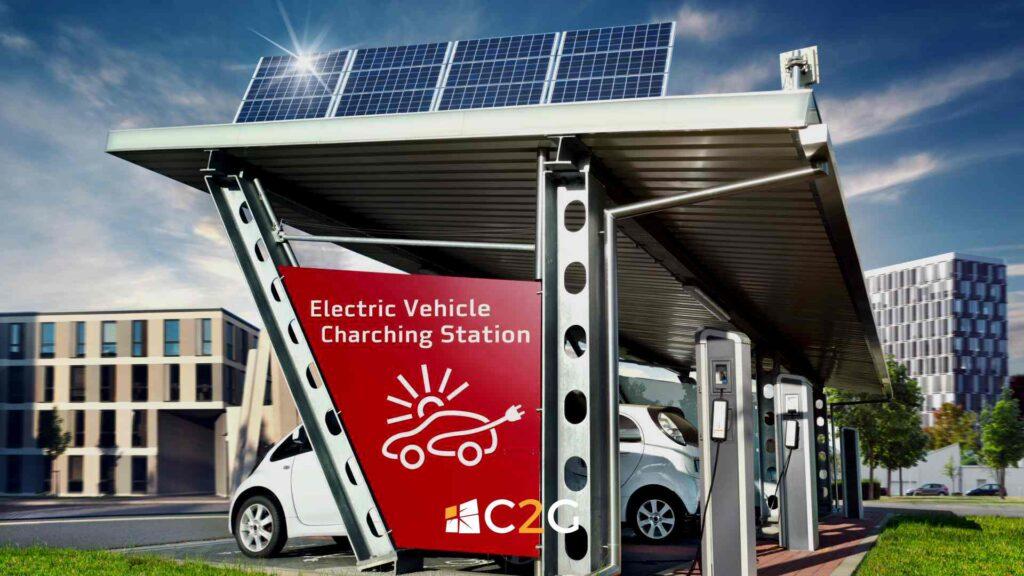 Ricarica auto elettriche hotel, alberghi, centri commerciali - C2G Solar